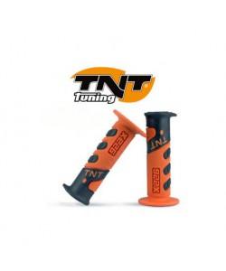 Poignée TNT orange / noir Dirt bike / Quad