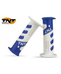 Poignée TNT bleu foncé / blanc Dirt bike / Quad