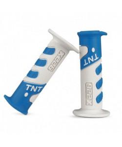 Poignée TNT bleu clair / blanc Dirt bike / Quad