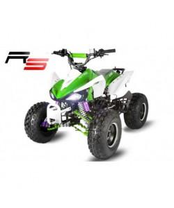 Carénage vert et blanc quad Carbone 110 / 125 cc