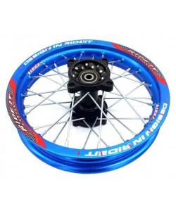 """Jante 12"""" arrière Bleu Ride it renforcée Dirt bike"""