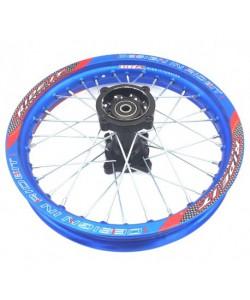 """Jante 14"""" arrière Bleue Ride it renforcée Dirt bike"""