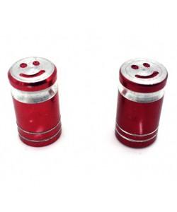 Bouchons de valve SMILE x2 en aluminium rouge