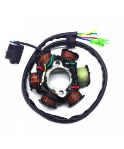Stator d' allumage 6 pôles Scooter GY6 démarrage électrique