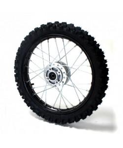 "Roue 17"" avant moyeu gris Dirt bike / Pit bike"