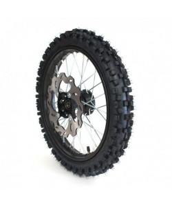 """Roue 17"""" avant axe 12mm renforcée complète Dirt bike / Pit bike"""