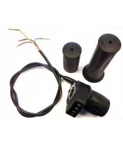 Poignée accélérateur électrique 36V 4 fils + voyant de charge de batterie