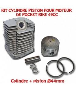 Kit Cylindre piston moteur Pocket Bike 49cc Piston Ø44mm